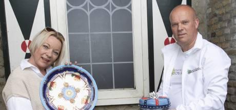 Holtens cadeau voor jarige koningin Máxima: taart op een majestueus bord