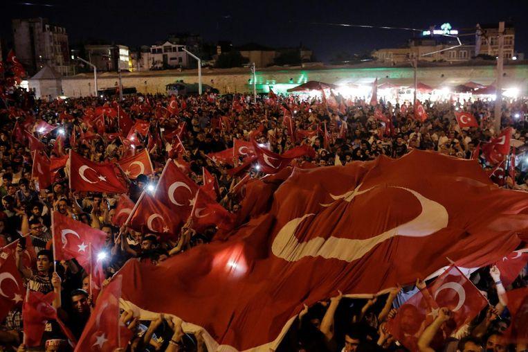 De couppoging in Turkije. Beeld anp
