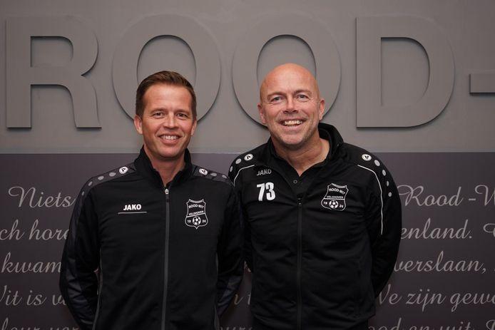 Marc Verbeek (l) en Dragan Thijssens ook volgend seizoen voor de groep bij Rood Wit V.