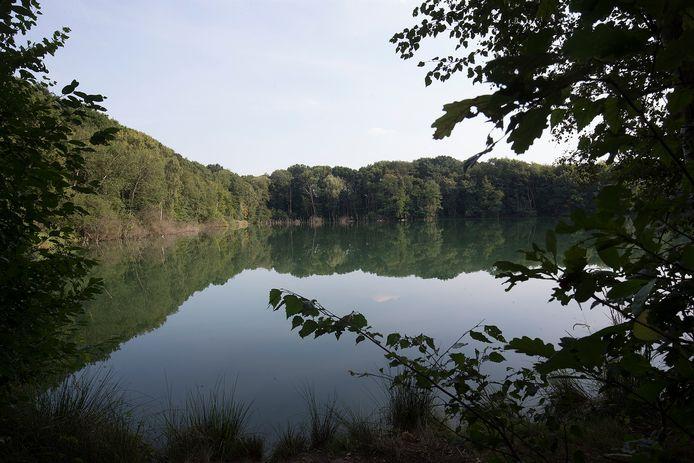 De kleiput aan de Driemarkweg: natuurlijke aanblik, maar onder het wateroppervlak zijn nauwelijks vissen en waterplanten te vinden. Winterswijk werkt aan de natuurontwikkeling.