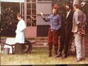 De rooie Sukkala in 'Mijnheer Puntila en zijn knecht Matti' in 1977.