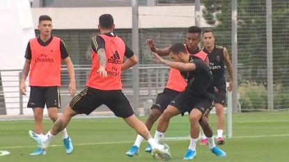 Eden Hazard werkt eerste volledige groepstraining af, maar staat hij zaterdag ook meteen in de basis?