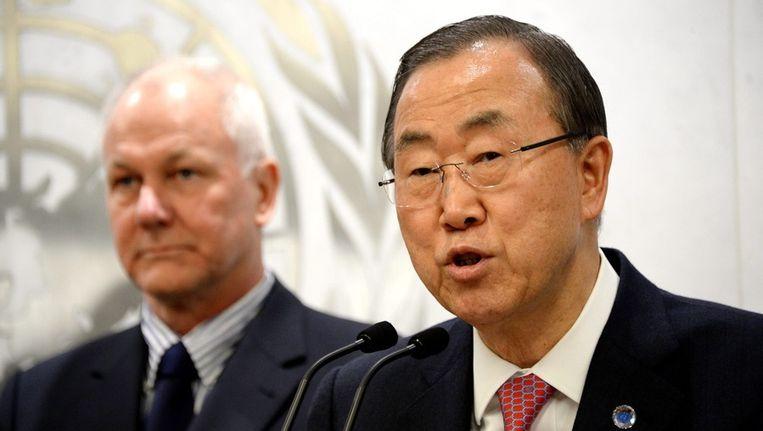 Secretaris-generaal Ban Ki-moon van de Verenigde Naties. Beeld EPA