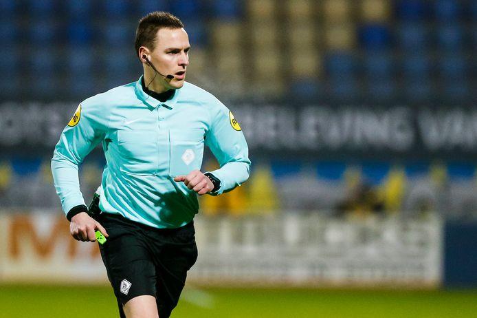 Laurens Gerrets tijdens zijn debuut in de eredivisie: RKC - Fortuna Sittard.