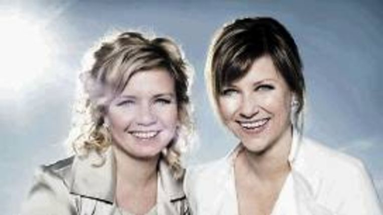 MÃ¿rtha Louise (rechts) en Elisabeth Samnoy. (Trouw) Beeld