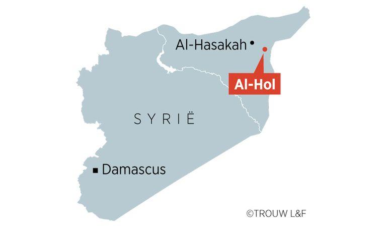 Vluchtelingenkamp Al-Hol in Syrië. Beeld Louman & Friso