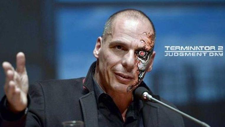 Yanis Varoufakis als 'Terminator'.
