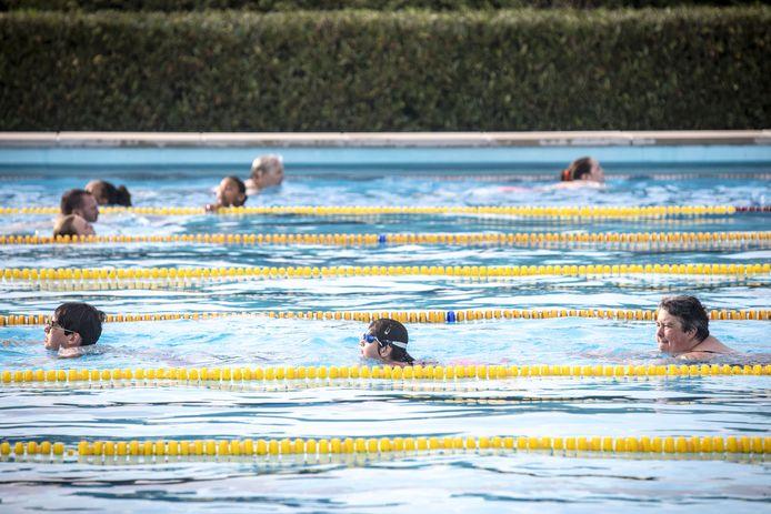 Het buitenbad van zwembad Het Sportpark wordt ook gebruikt met de zwemvierdaagse.