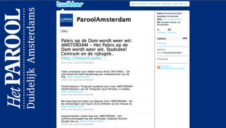 Een van de Twitter-accounts van Het Parool. Beeld