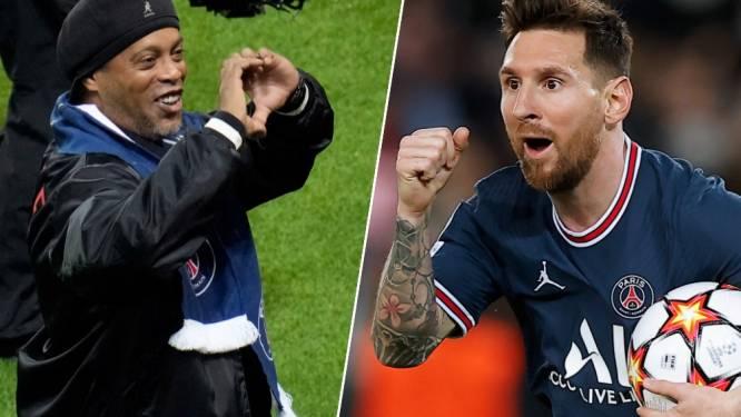 Messi behoedt PSG voor nederlaag tegen Leipzig, met de steun van... Ronaldinho