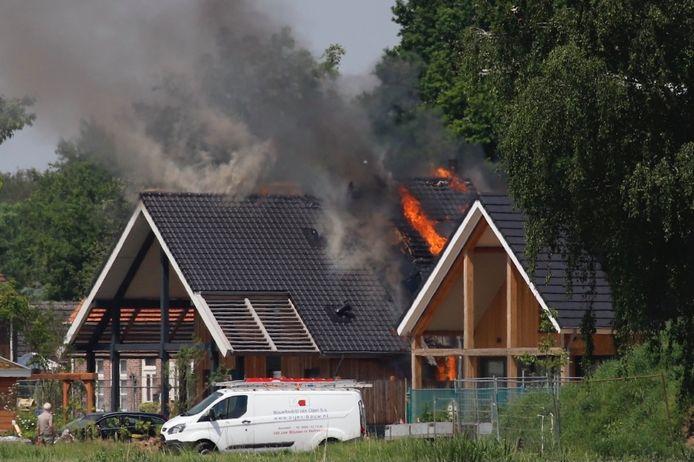 Brand in een woning in Gassel.