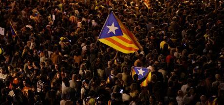 Catalanen protesteren in Barcelona