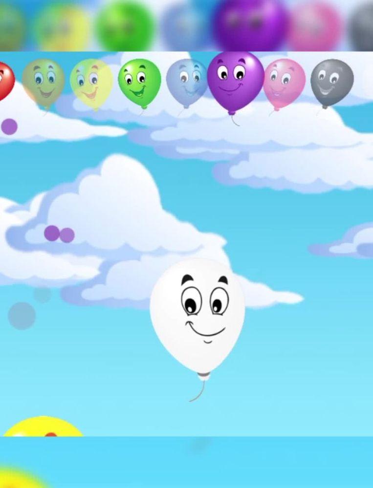 Bij het doorprikken van ballonnen in het spelletje 'Balloon pop' ziet de speler soms een speciale ballon voorbijzweven, waarna de mededeling 'volledig spel ontgrendelen' verschijnt. Kosten: 2,99 euro. Beeld rv