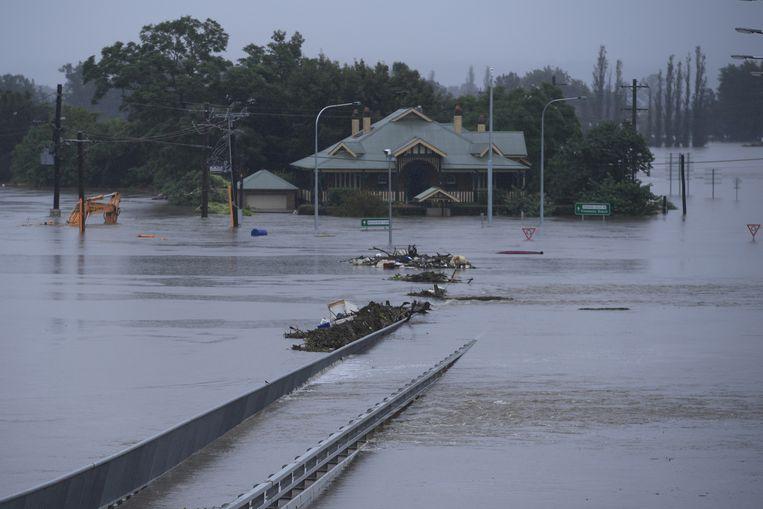 De voetgangersbrug New Windsor Bridge in het noordwesten van Sydney.  Beeld EPA