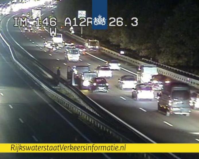 Ongeval op de A12 bij Arnhem, donderdagochtend vroeg.