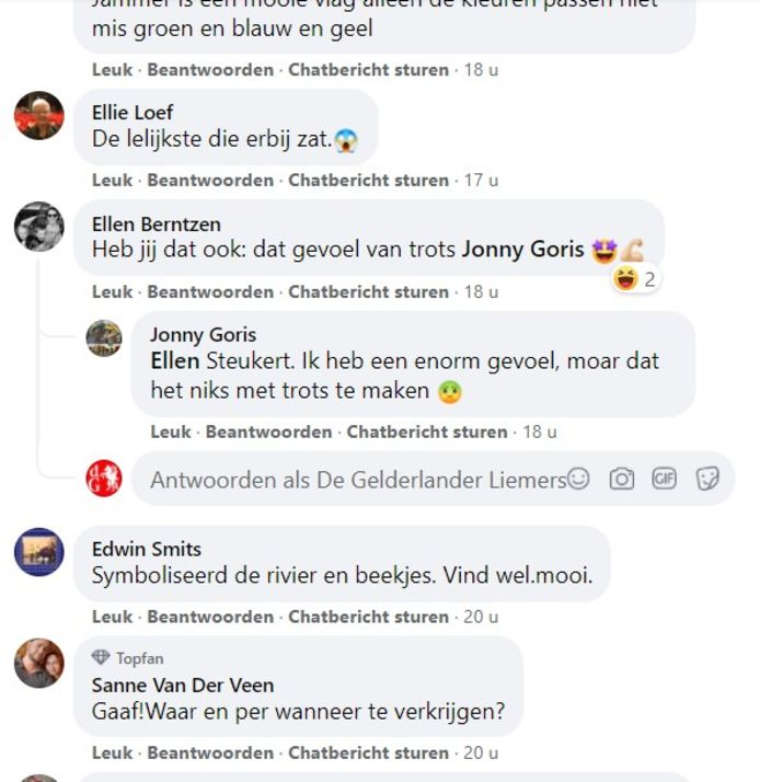 Een bloemlezing uit de vele reacties op het ontwerp van de Liemerse vlag