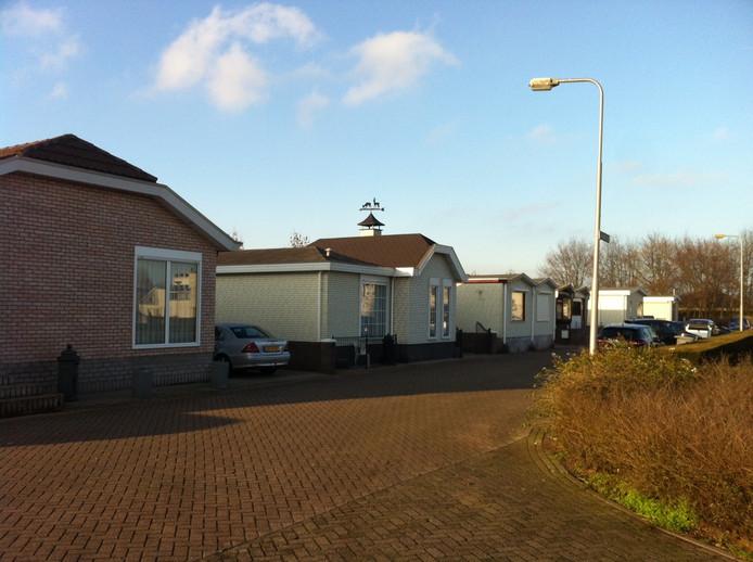Het woonwagenkampje aan de Leuvenstraat in Oss.
