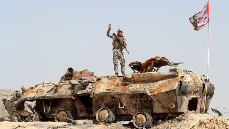 Een Iraakse militair. Beeld epa