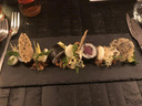 Sushi met Hollandse garnalen.
