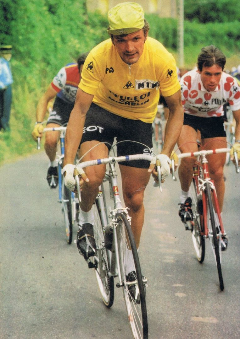 Bernard Thévenet won de Tour twee keer. Beeld .