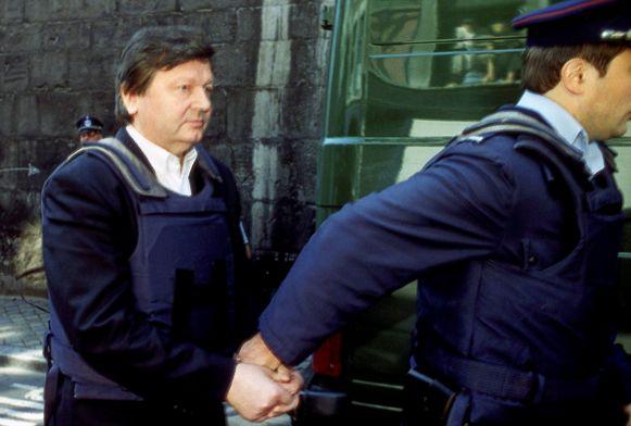 Luik, 9/9/1996. Michel Nihoul verschijnt voor de raadkamer.