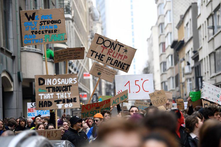 Illustratiebeeld: klimaatbetoging in Antwerpen in februari.  Beeld Photonews