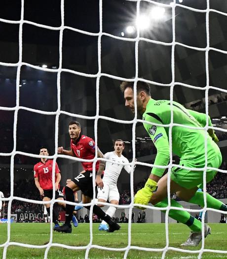 Frankrijk groepswinnaar na zege in Albanië