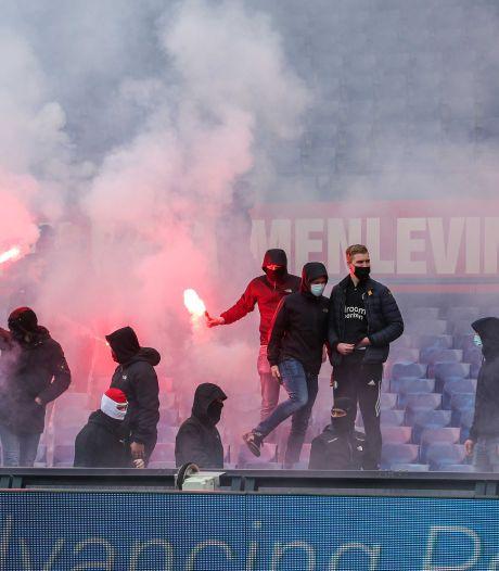 Samenvatting   RKC is kansloos bij Feyenoord, waar supporters tijdens het duel de Kuip binnendrongen