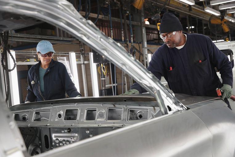 Een fabriek van autobedrijf Ford in Chicago, Illinois. Beeld AFP