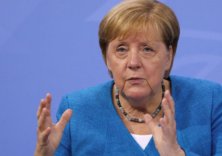 Duits bondskanselier Angela Merkel Beeld AP