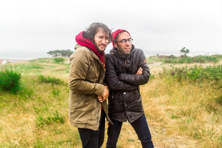 George & Eran op Oerol. Beeld Skylarr Stream