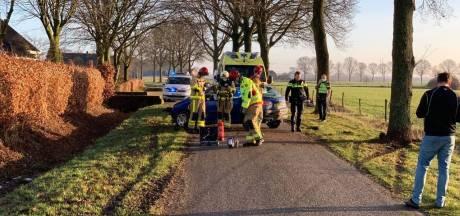 Plaatselijk toch nog spekglad in de Achterhoek: automobilist knalt tegen boom bij Wijnbergen
