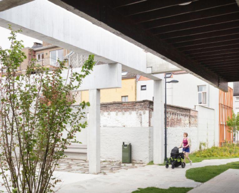 Standaertsite Gent, ontworpen door ae, Carton123 en murmuur architecten. Beeld Michiel de Cleene