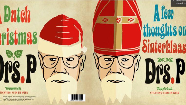 De hoes van de kerst- en sinterklaassingle met niet eerder uitgebrachte liedjes van Drs. P. Beeld Patrick Van Den Hanenberg