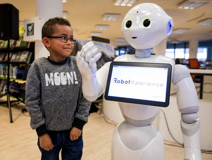 De robot Pepper.