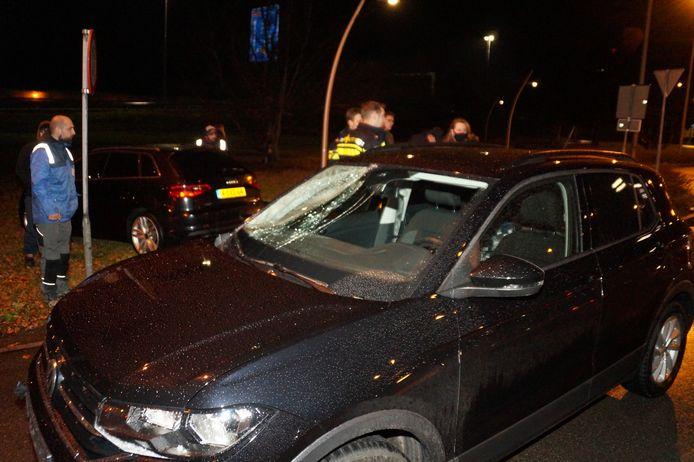 Fietser geschept door auto in Drunen.