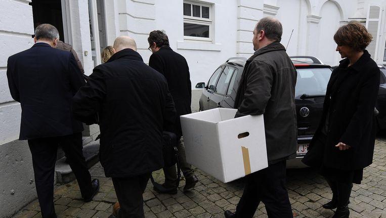 Op woensdag 18 januari 2012 deed de politie huiszoekingen in Namen. Beeld BELGA