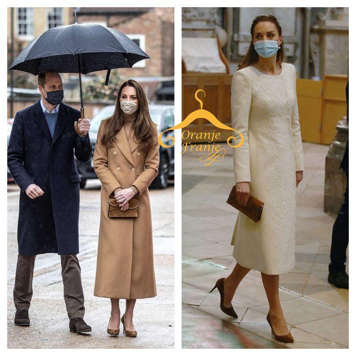 De mantels van Kate van afgelopen week.