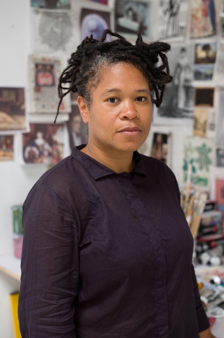 Natasja Kensmil in haar atelier Beeld Cuny Janssen