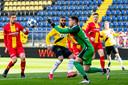 Go Ahead-doelman Jay Gorter hield op paasmaandag tegen NAC Breda voor de 22ste keer zijn doel schoon.