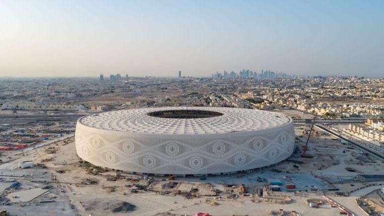 Het Al Thumama-stadion in Doha, Qatar. Beeld