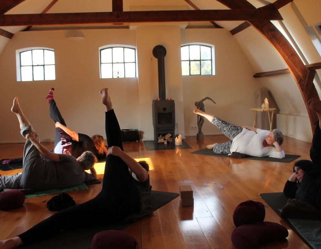 Een lesje yoga.