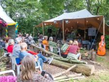 Festivalgangers genieten van EEF, het Eindeloos Eiland Festival