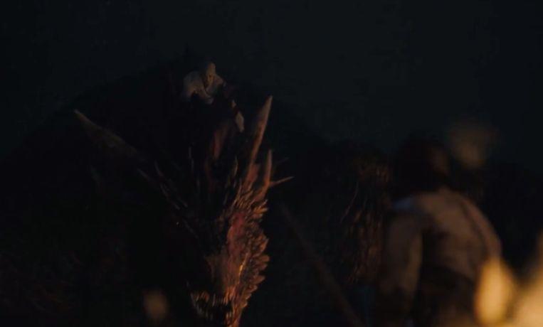 Mother of Dragons op haar draak.