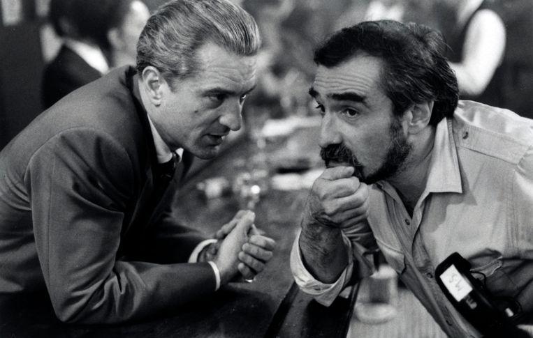 Nog eens met De Niro tijdens het draaien van 'Goodfellas' (1990). Beeld Collection Christophel