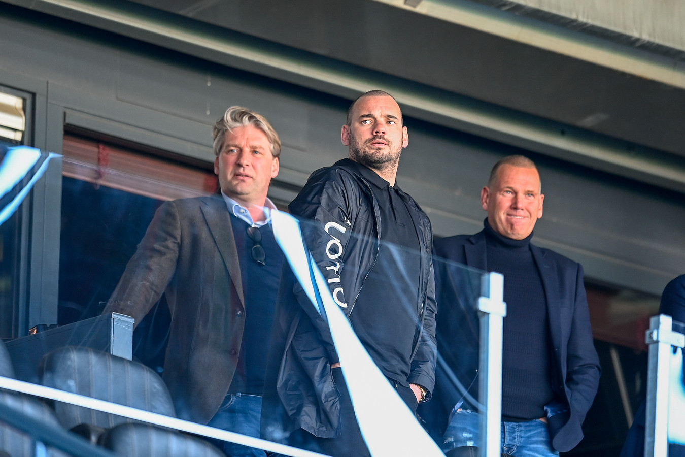 Wesley Sneijder op bezoek in het Goffertstadion.    Wesley Sneijder before the match.
