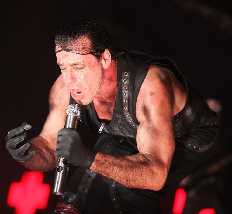 Rammstein-zanger Till Lindemann. Beeld photo news