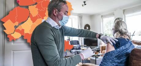 KAART | Urk scoort slechtst van Oost-Nederland, sterke daling coronagevallen in Olst-Wijhe