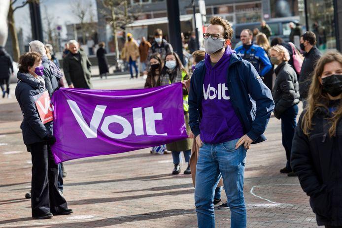 De politieke partij Volt (elders, foto ter illustratie).
