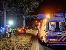 Auto ramt boom op A59 bij knooppunt Hooipolder